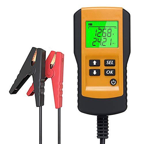 KKmoon Tester für Autobatterie, digital, 12 V, Lade-Test und Analysegerät der Lebensdauer der Batterie, Messgerät für Widerstände (Reichweite: 100~9999 CCA)