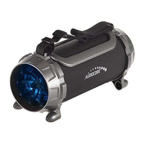 Audiocore AC890 Bazooka Bluetooth Lautsprecher 100W 2000mAh FM Radio Mp3-Player microSD Akku Tragbar Bazooka LED-Beleuchtung