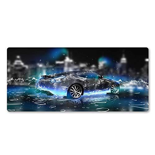 NASHUBIA Super Hot Blue Achtergrond Cool Auto Mouse Pad Senior Grote Toetsenbord Pad Notebook Unieke Stijl Natuurlijke Rubber Matten 900x400x2mm