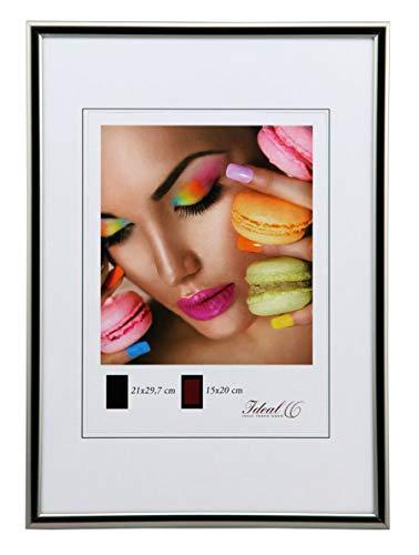 Ideal Trend Kunststoff Bilderrahmen 10x15 cm bis 50x70 cm Bilder Foto Rahmen: Farbe: Stahl | Format: 50x70
