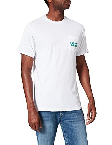 Vans Otw Classic Camiseta, White-Porcelain Green, L para Hombre