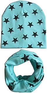 Winter hat 2Pcs/Set Baby Hat Scarf Star Prints Cotton Children Boys Girl Cap Beanie Neck Collar Scarf Autumn Winter Warm K...