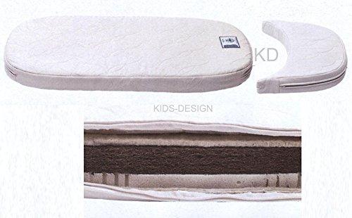 Leander de matelas en latex de fibre de coco pour le Leander Lit pour bébé et enfant Lit ovale + Junior élargissement