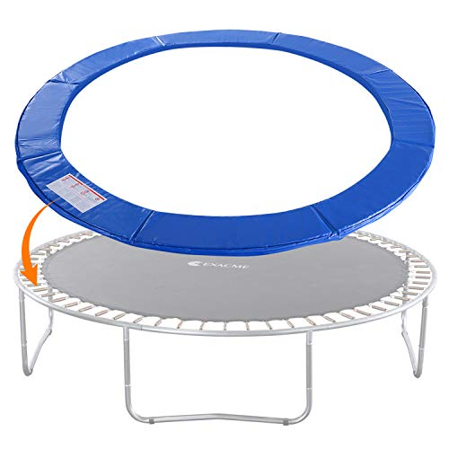 Exacme Trampoline Replacement Safety Pad Round Spring Cover, No Slots (Blue, 12 Foot)