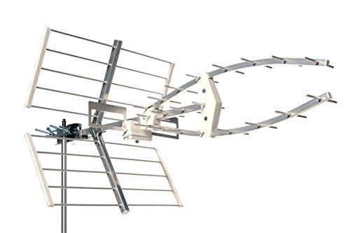 TechniSat TECHNIYAGI T2 HD - Außenantenne, Dachantenne (UHF-Antenne aus 32 Elementen für den digitalen Empfang von DVB-T, DVB-T2 HD)