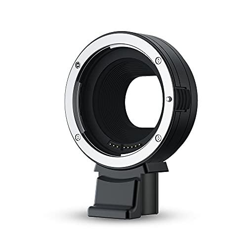 JJC EF-EOS M - Adaptador de montura de lente para Canon EOS EF/EF-S en Canon EF-M cámara de montaje EOS M M2 M3 M5 M6 M6 Mark II M10 M50 M100 - Comunicación electrónica compatible