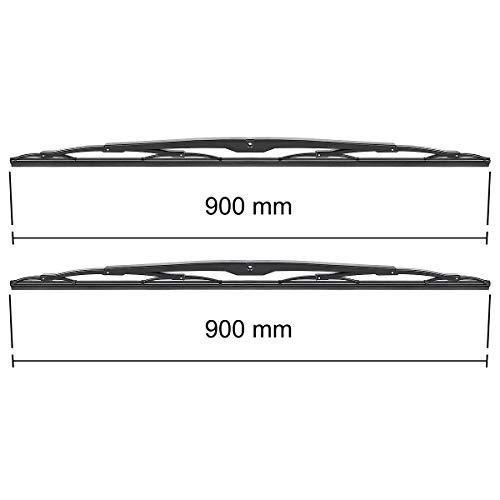 Wischerblätter - Set für Frontscheibe (Fahrer- + Beifahrerseite) (900 mm / 900 mm) - 5902538763608