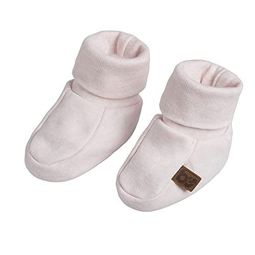 BO Baby's Only - Melange Booties - Babyschuhe - 0-3 Monate - Für Mädchen - 100% Biologische Baumwolle - Klassisch Rosa