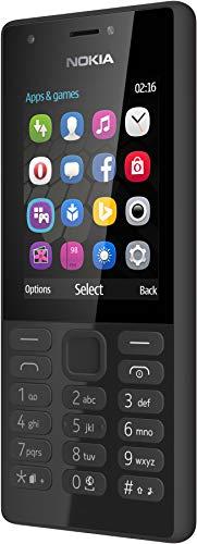 Nokia 216 Handy, schwarz, Schwarz, Dual SIM