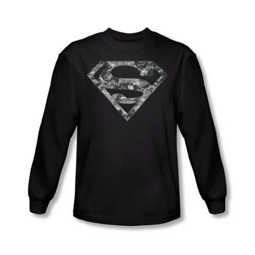Superman - Urban Camo Bouclier shirt manches longues Men In Black -, XX-Large, Black