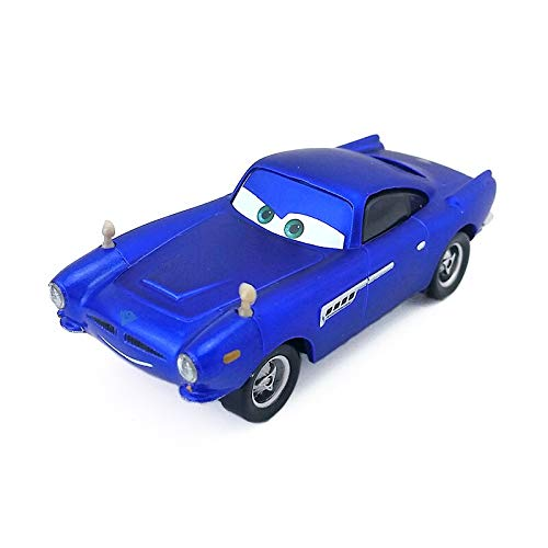 Desconocido Disney Disney Pixar Cars Finn McMissile Ransburg Blue Metal Diecast Toy Car 1:55 Loose In Stock &