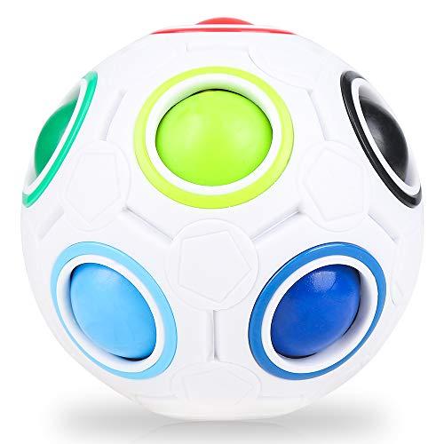 Nasharia Magic Ball Magisch Regenbogen Ball Spielzeug 3D Pädagogische Stressabbau Zappeln Geschenke für Kinder Erwachsene