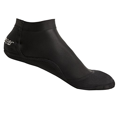 Seavenger SeaSnugs | Low Beach Socks for Sand Volleyball, Soccer, Snorkeling & Watersports (Black, Large)