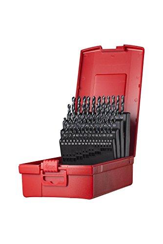 Dormer A190202 Jobber Drill Set, 1.0 mm - 6.0 mm x 0.1 mm Size