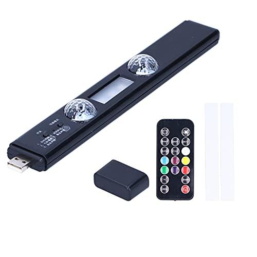 Aramox - Tira de luz ambiental para coche, universal inalámbrica LED para interior de coche, ambiente, lámpara RGB, gato, cálido, control remoto, tira de luces decorativas con pieza de imán