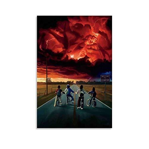 HULANG Stranger Things Temporada - Poster artistico da parete con stampa artistica da parete, 12 x 18 pollici (30 x 45 cm)