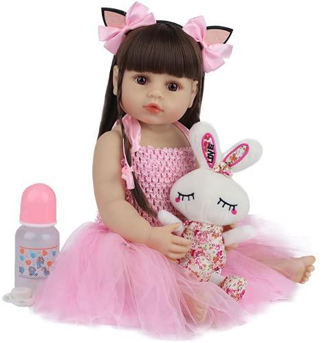 YANRU Bebé Renacido Barato - 22 Pulgadas 55 Cm MuñEca En Miniatura - Silicona De Cuerpo Entero PequeñA MuñEca - For 3-10 Baby Gifts