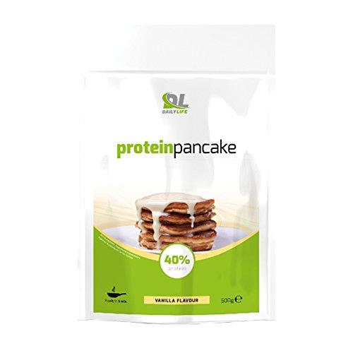 DL Protein Pancake preparato con 40% di proteine (mix di Avena, Whey Protein e Albumina di uovo) Avena per pancake 500g Vaniglia integratore