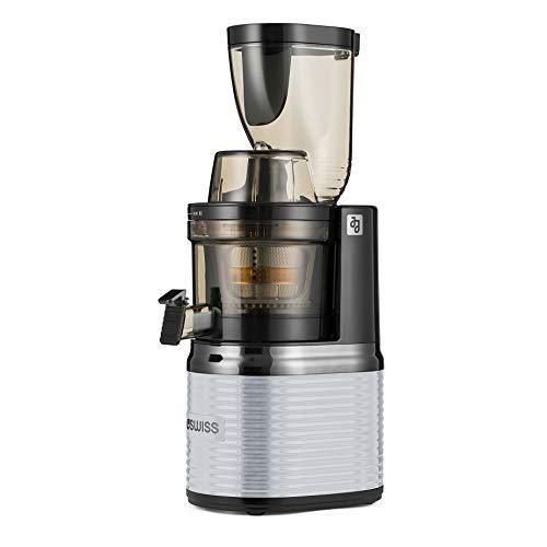 Exprimidor Slow Juicer para verduras y frutas, exprimidor eléctrico, prensa fría, colador de acero inoxidable, sin BPA, potente motor silencioso, función inversa, cepillo de limpieza