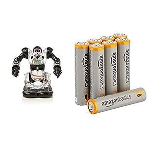 WowWee Robosapien RobotRc Mini Build-Up Edition Toy with Amazon Basics AAA Batteries Bundle - 414AAi FjUL - WowWee Robosapien RobotRc Mini Build-Up Edition Toy with Amazon Basics AAA Batteries Bundle