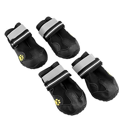 Fdit antislip waterdichte hondenschoenen zacht ademend mesh huisdier schoenen beschermers outdoor wandelschoenen met reflecterende strip