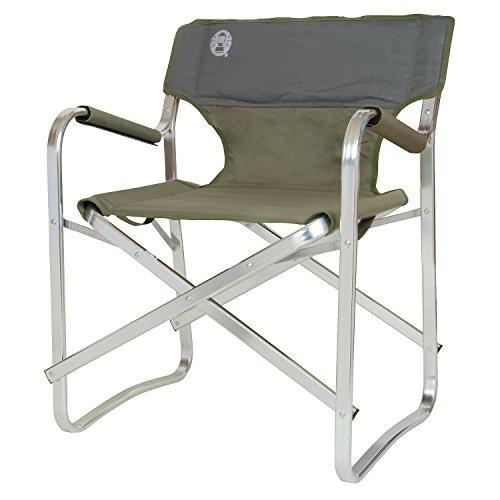 Coleman Faltstuhl Deck Chair mit Aluminiumgestell Zum Relaxen, Campingstuhl mit Armlehnen und gepolsterter Rückenlehne, bis Max. 113 kg