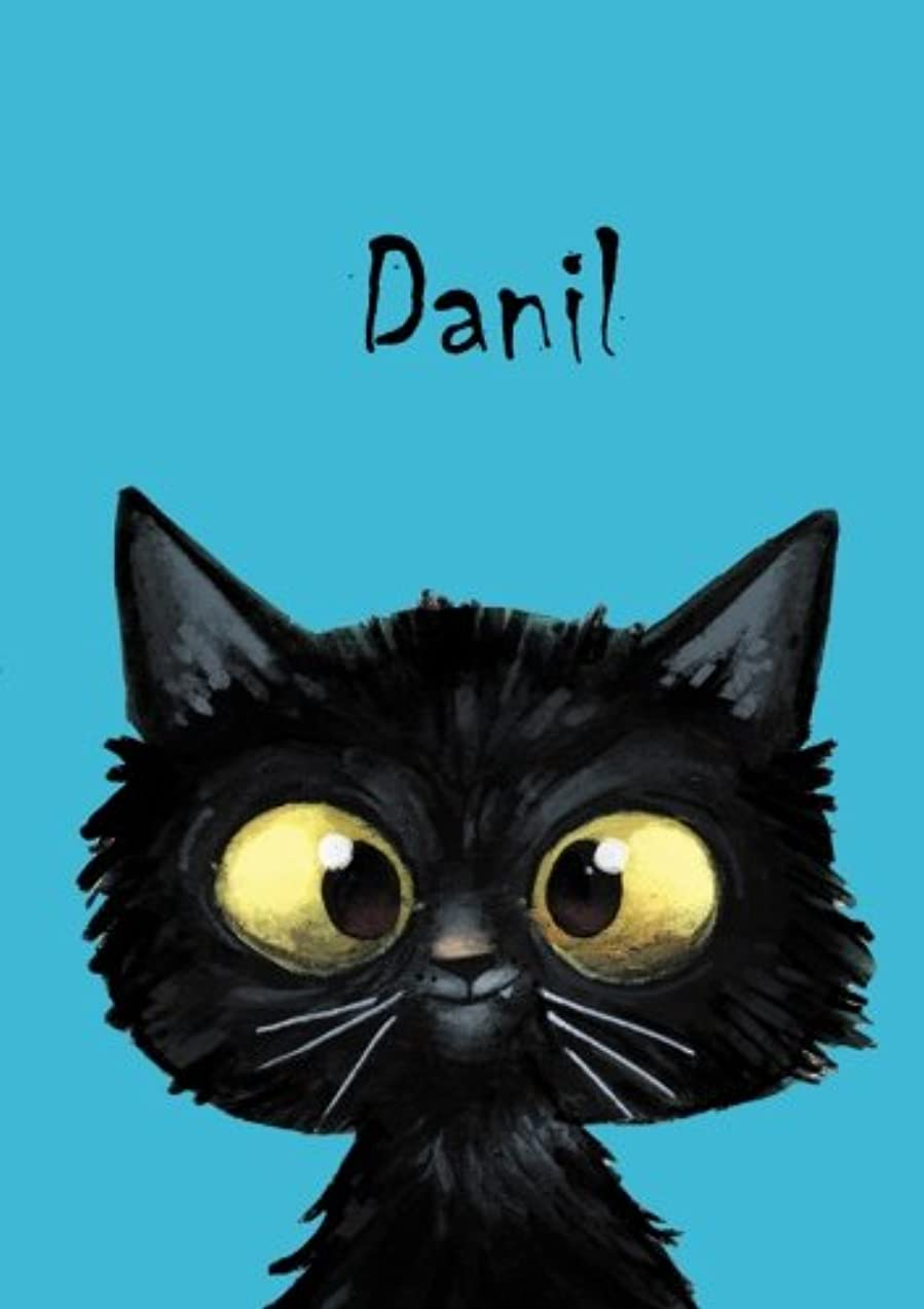 金銭的パット代理店Danil: Danil - Katzen - Malbuch / Notizbuch / Tagebuch: A5 - blanko