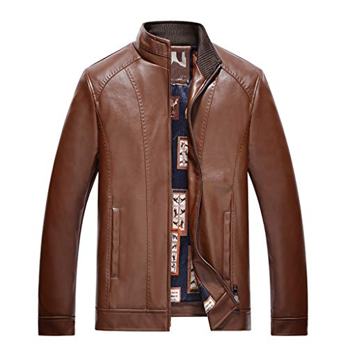 1-1 heren motorfiets waterdicht lederen jas top heren blazer zakelijk lederjack outdoor casual slim fit motorfiets overcoat
