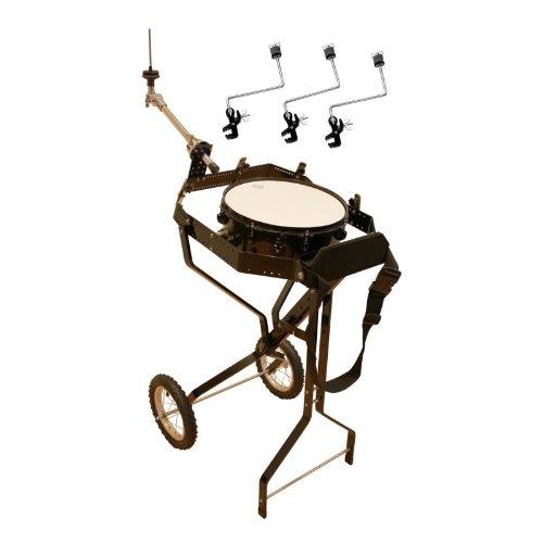 Schlagzeugwagen für 4 Toms, mit Snare, Hi-Hat Halterung, 3 Beckenhalter