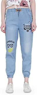 Bjird Women's Denim Slim Fit High Waist Ankle Length Jeans(Blue)