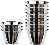 MGE - Flanero Individual - Molde para Pudding, Flan, Bizcocho - Cuenco para Aceitunas - Acero Inoxidable - Ø 9 cm