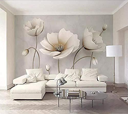 Mural Wallpaper Photo Wall Paper 3D Flower Marble Landscape Living Room Modern Papier peint behang tapeta 3D Wallpaper Paste Living Room The Wall for Bedroom Mural-200cm×140cm
