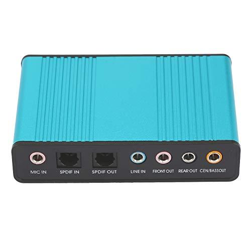 FairytaleMM Tarjeta de Sonido USB Externa Profesional 5.1 5.1 Adaptador de Tarjeta de Audio Óptico para PC Ordenador Portátil Promoción