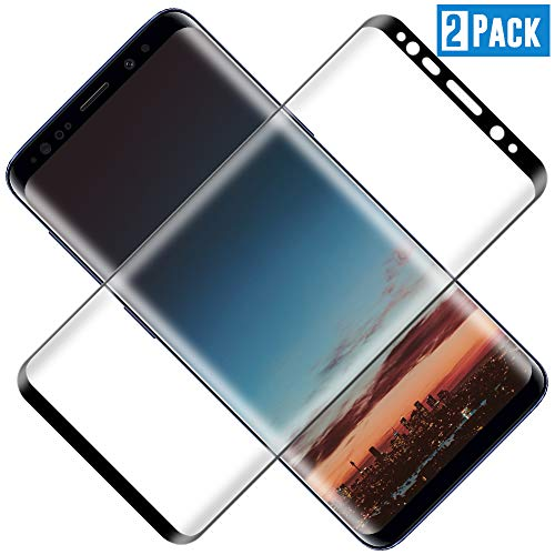 TOCYORIC Protector de Pantalla para Samsung Galaxy S8[2 Pack], [3D Curvo Full-Cover] Cristal Templado S8, Alta Definicion, 9H Dureza, Vidrio Templado para S8