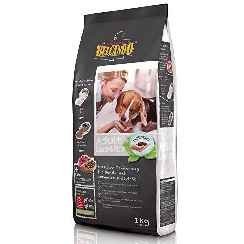 Belcando Adult Lamb & Rice [1 kg] Hundefutter | Trockenfutter für empfindliche Hunde | Alleinfuttermittel für ausgewachsene Hunde ab 1 Jahr