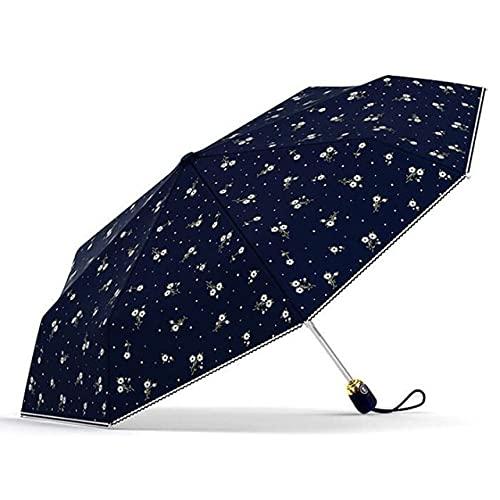 TUSI Parapluies pour Femmes crème Solaire Automatique Anti UV Fleurs Marque Parapluie Pluie Femmes Parasol Femme Parapluie Pliant Coupe-Vent