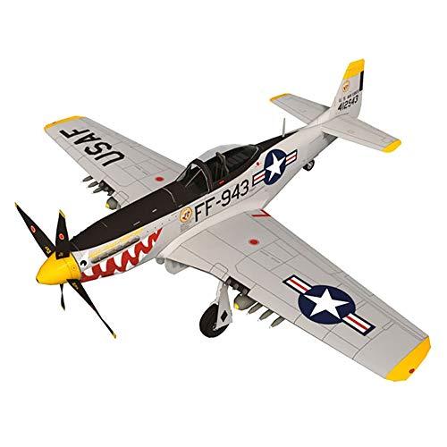 Lllunimon 1/33 P-51D Mustang Fighter Aircraft Model Model Kit, DIY 3D Modelo de Papel Conjuntos de construcción Juguetes de construcción Modelo Militar