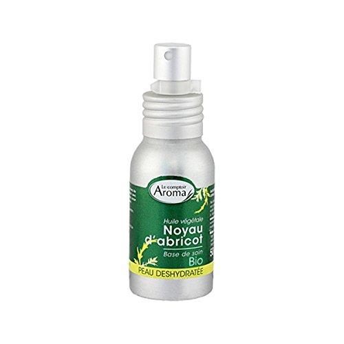 Le Comptoir Aroma Huile de Massage Noyau d'Abricot Vierge Bio Flacon-Pompe 50 ml