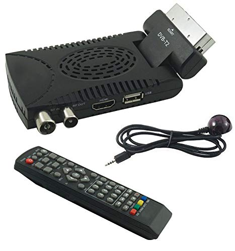 Decoder Digitale Terrestre Hd Mini Dvb T2 Usb Hdmi Presa Scart 180° Televisione