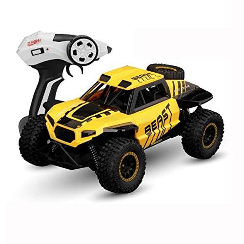 Kedorle 2.4GHz Carracing Cars Electric Remote Control Coche Drive de Cuatro Ruedas Radio Controlado Off Road Vehículo Todo Terreno Monster Crawlers Chariot Outdoor Toy Car Car (Color : Yellow)