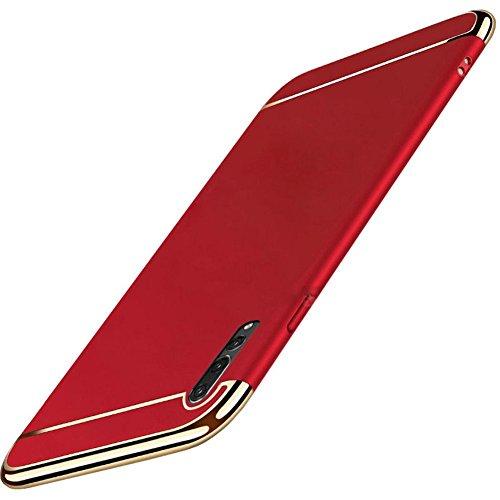 Huawei P20 Pro hoesje, Huawei P20 / P20 Lite hoes telefoonhoes 3-in-1 slim PC hard case mat skin hardcase 360 graden beschermhoes bumper cover bescherming voor Huawei P20 Pro Huawei P20 Pro rood