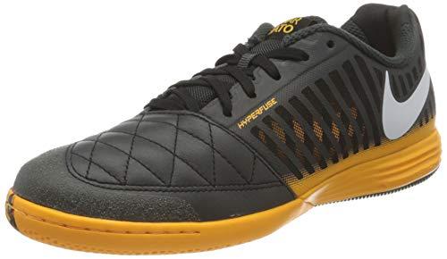 NIKE Lunar Gato II IC, Football Shoe Hombre, Gris Humo Oscuro Naranja Láser Negro Blanco, 40 EU