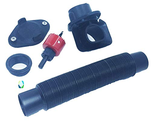 EarthMinded DIY Rain Barrel Diverter Parts for 2x3, 3x4 and Round Downspouts (Diverter, Winter Cover Plate, Hose, Hose Seal for Barrel, Drill Bits, Parts to fit 2x3 Downpipe)