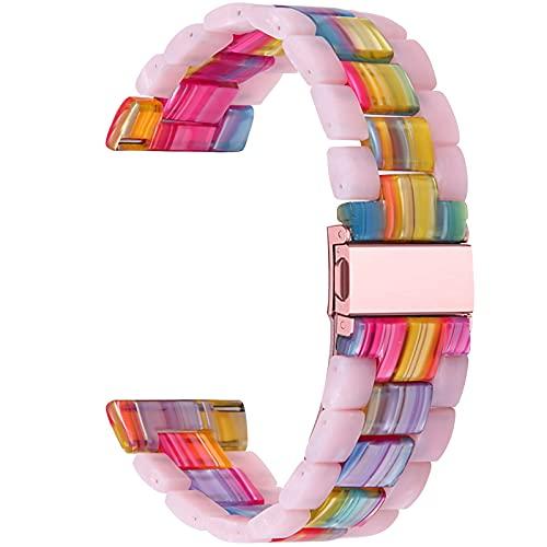 Galaxy Watch 42mm Armband, Miya Resin Ersatzarmband Strap Faltschließe Armband Damen Herren Armband Armband für Galaxy Watch Active/Active 2 40mm/Gear S3 Frontier/Gear S2 (M1)