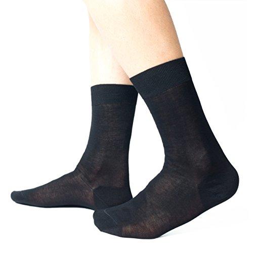 Calcetines de hombre, 100% algodón mercerizado Filo di Scozia de alta calidad - 6 pares - tres tallas - Ciocca Socks