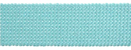 Essentiële Trimmings 30mm Katoen & Acryl Webbing Tape Aqua Blauw Tape Riem Stof Strap Bag maken Schort Strapping - per 3mtrs