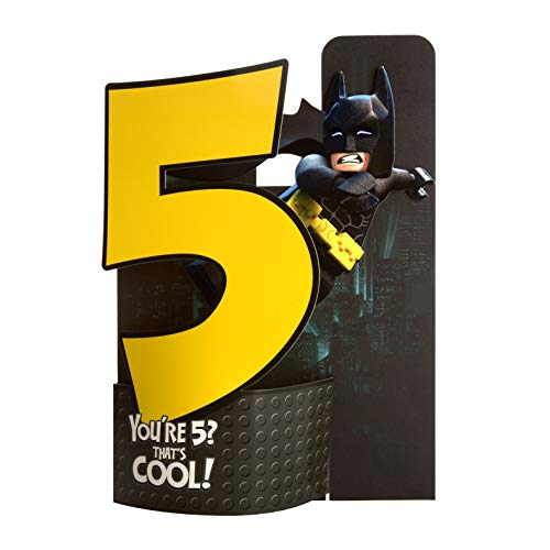 Leeftijd 5 Verjaardagskaart van Hallmark - 3D Pop-out Lego Batman Design