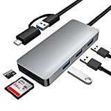 Hub USB 3.0 con 3 Puertos, Yeemie Concentrador Adaptador USB Data Hub de Alta Velocidad-5gbps con Indicador Led e Cable de 25cm, Compatible para Windows/Mac OS/Linux/Vista Sistema.