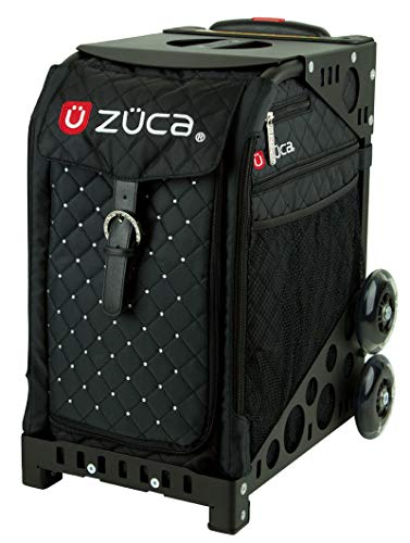 ZUCA Mystic Quilted Sport Insert Bag and Frame (Black) with Flashing Wheels