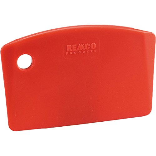 Remco 69594 Red Polypropylene Stiff Bench Scraper, Injection Molded Blade